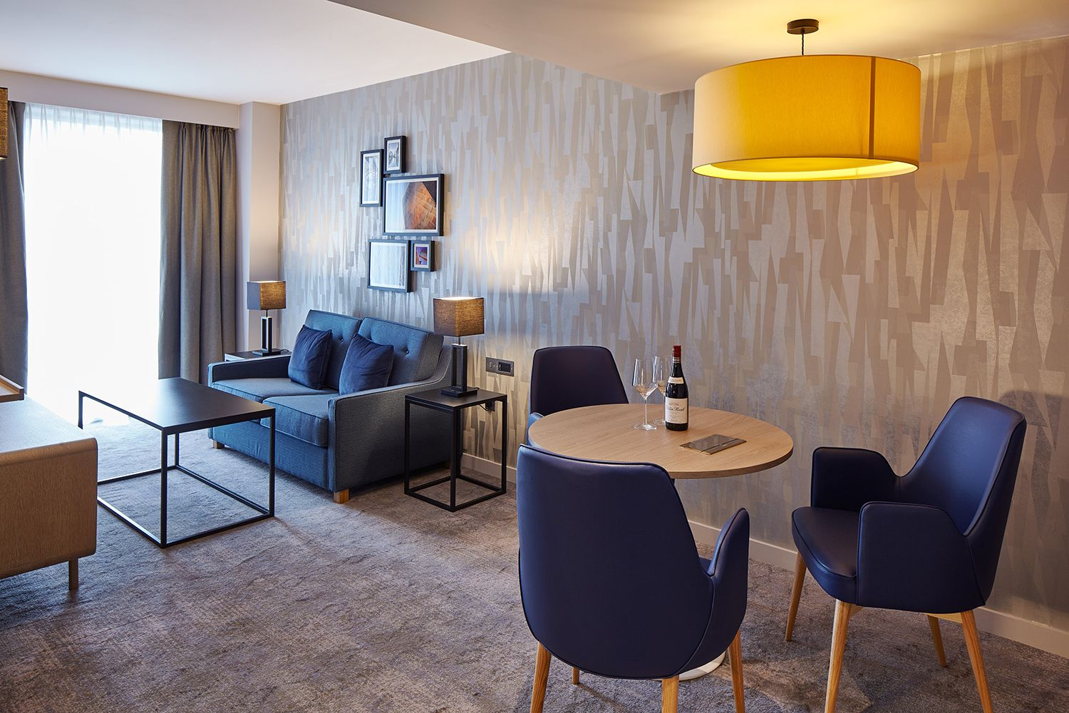 guest room lounge area | hotel interior design | manchester