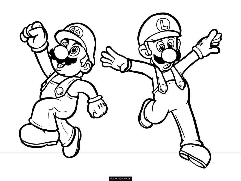 Mario Bross Fargelegging for barn Tegninger for utskrift og fargelegging nº 28