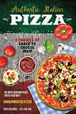 pizza psd flyer template free flyer templates pinterest flyer