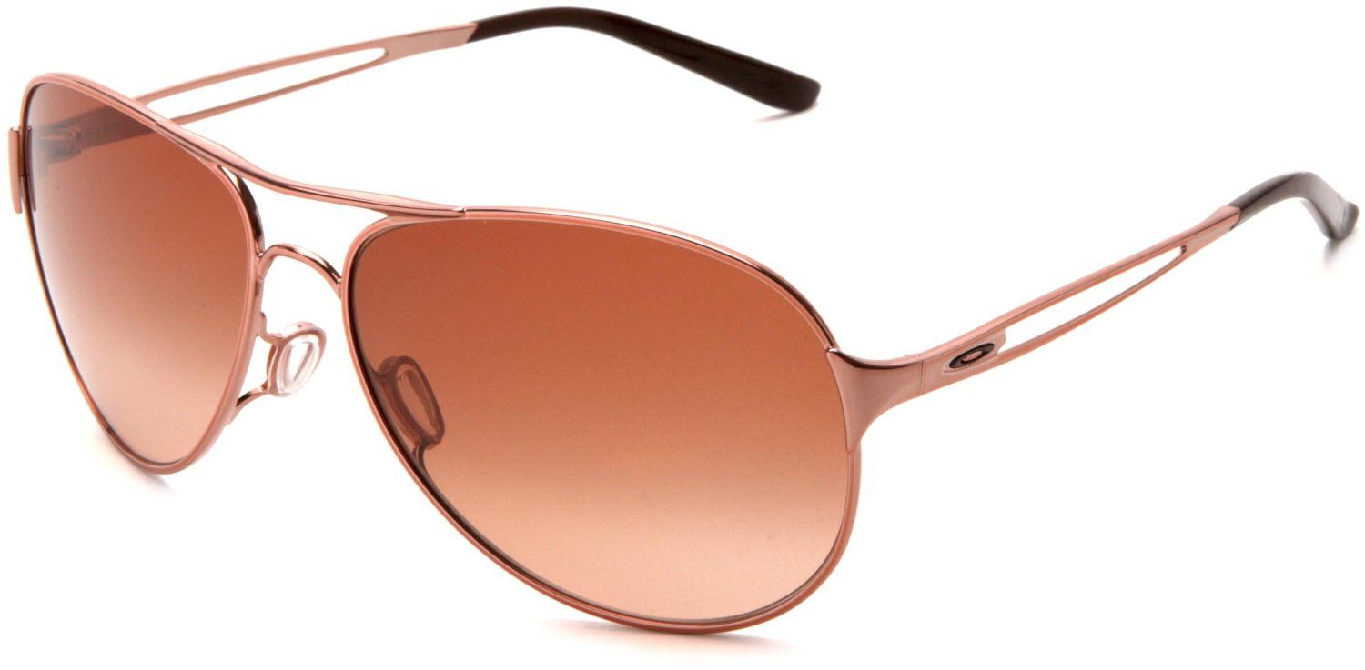 e1a59b86c9 Amazon.com: Oakley Womens Caveat Aviator Sunglasses,Rose Gold Frame/Brown  Gradient Lens,One Size: Oakley: Clothing