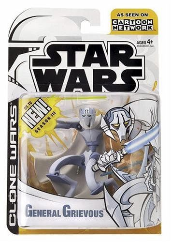 Star Wars E3 Bf78 Grievous By Hasbro 14 99 Animated Figure Animated Grievous From Original Clone Wars Car Star Wars Action Figures Star Wars Toys Star Wars