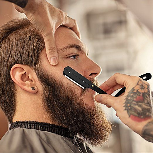 Amazon Com Equinox Professional Straight Edge Shaving Razor Matte Black Beauty Best Straight Razor Straight Razor Straight Razor Kit
