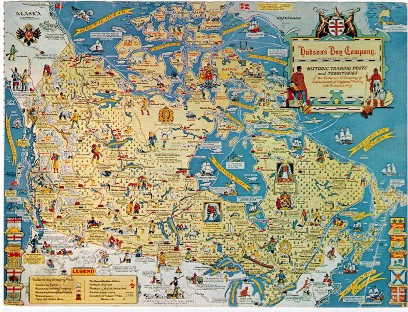 Map of hudsons Bay fur trading posts