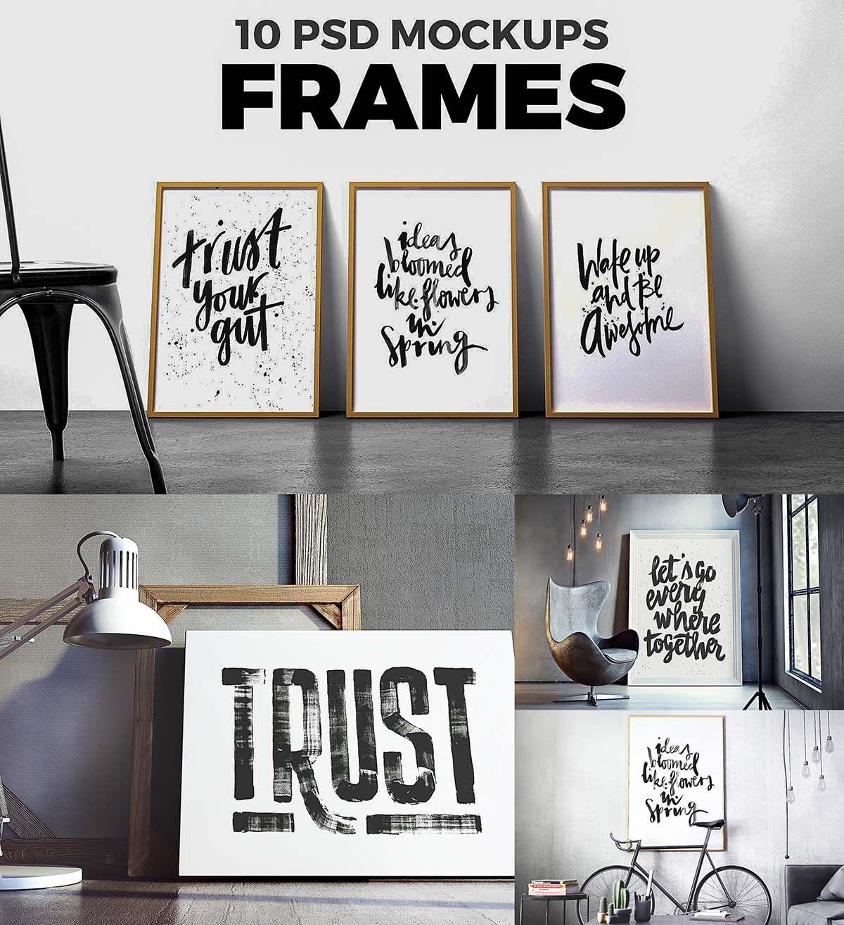 Poster mockup set | Pinterest