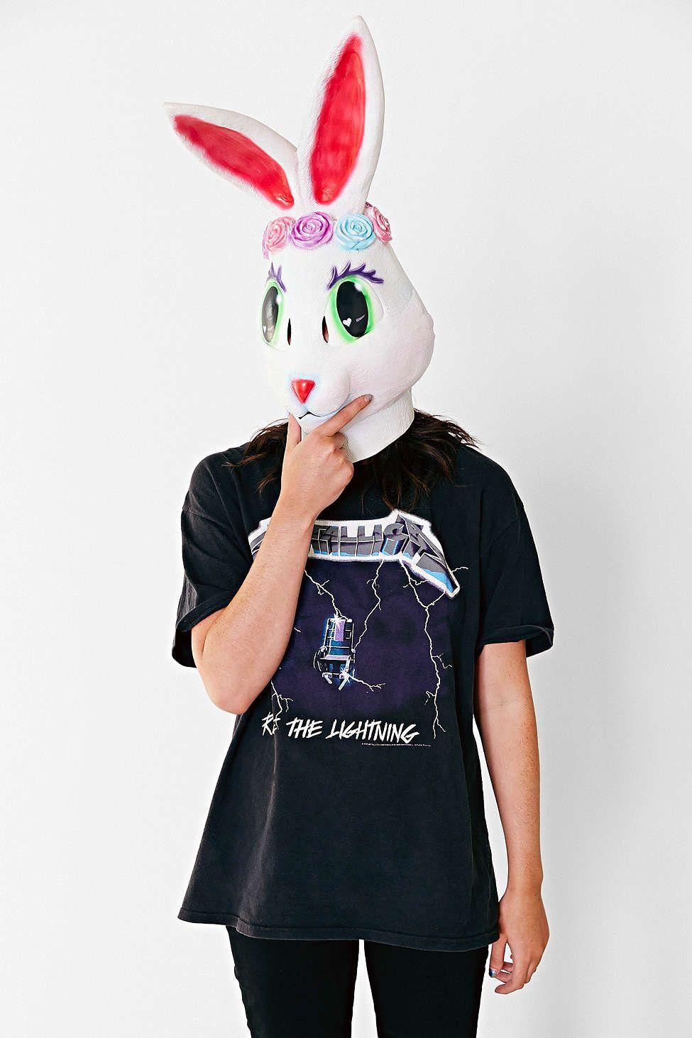 Lisa Frank X UO Rose Bunny Mask | Bunny mask and Lisa frank