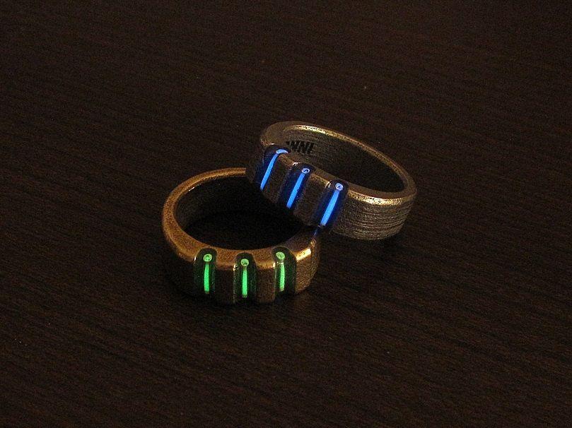 Tritium Triad Ring Tritium 3d Printed Ring Rings