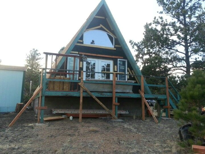 93 Elkhorn Circle Front window installation | A-Frame | Pinterest