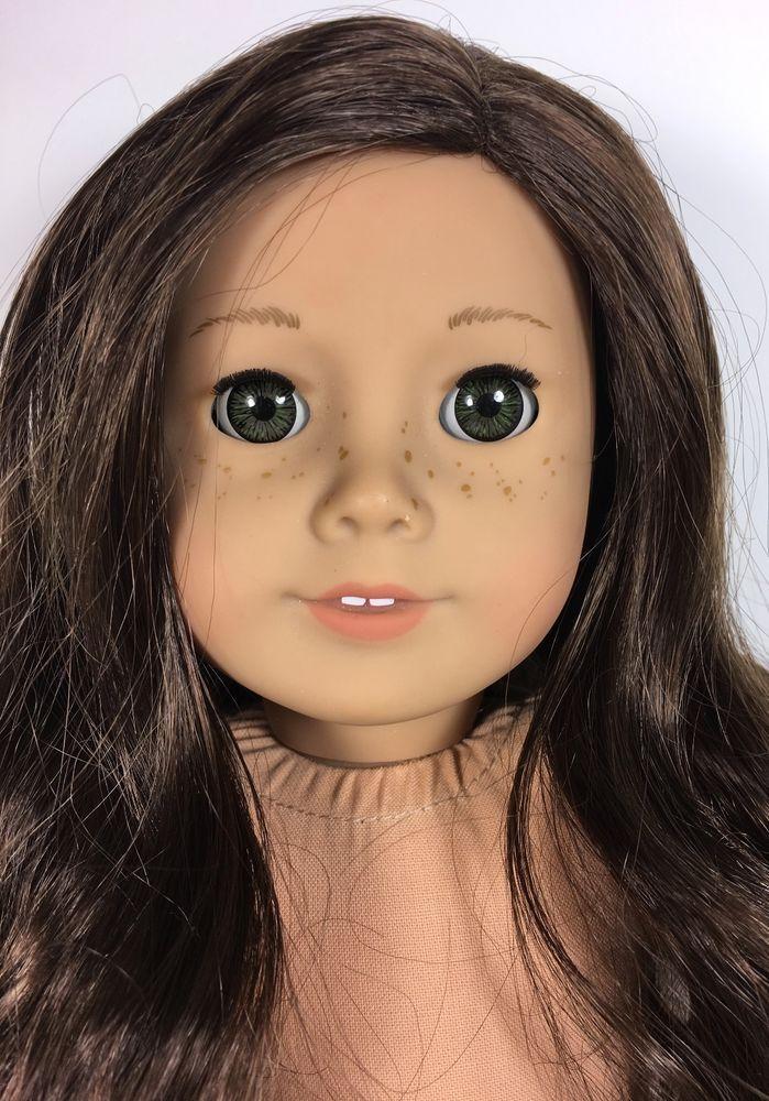American Girl Just Like You Doll Dark Brown Hair Hazel Eyes Fair