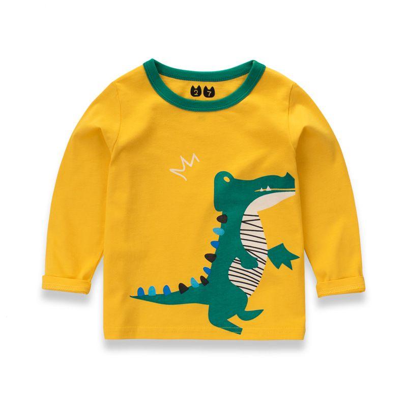 Baby Boy Kids Long Sleeve Dinosaur T-Shirt Children Cartoon Sweatshirts Tops Tee