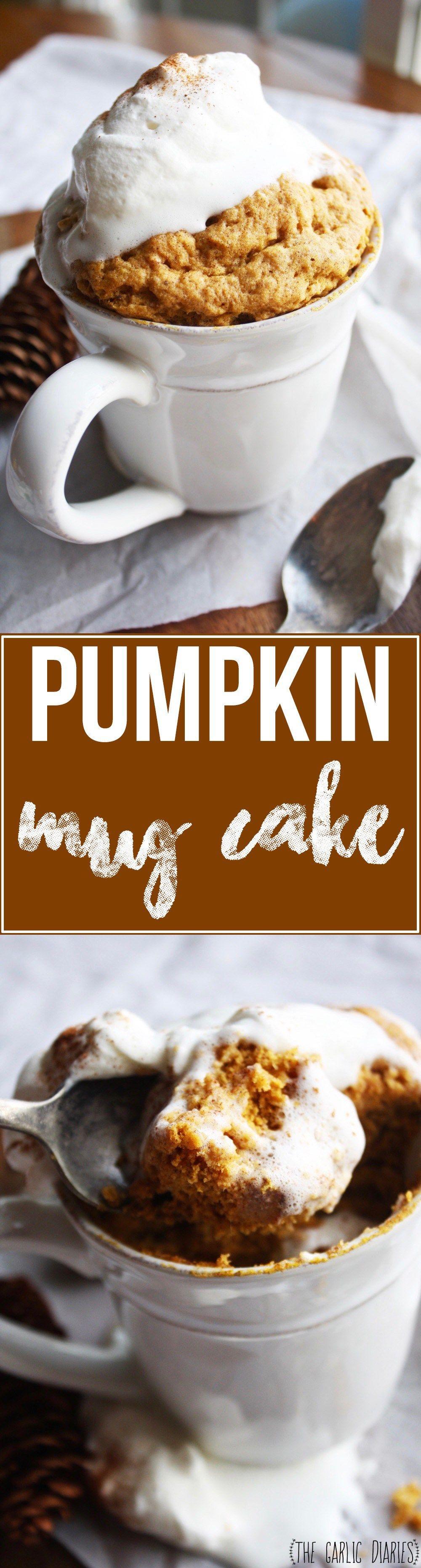 Pumpkin Mug Cake   Recipe   Pumpkin recipes, Mug cake ...