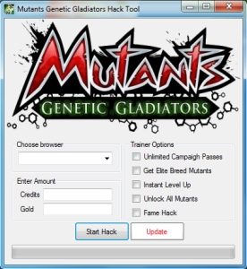 Mutants Genetic Gladiators Hack Tool