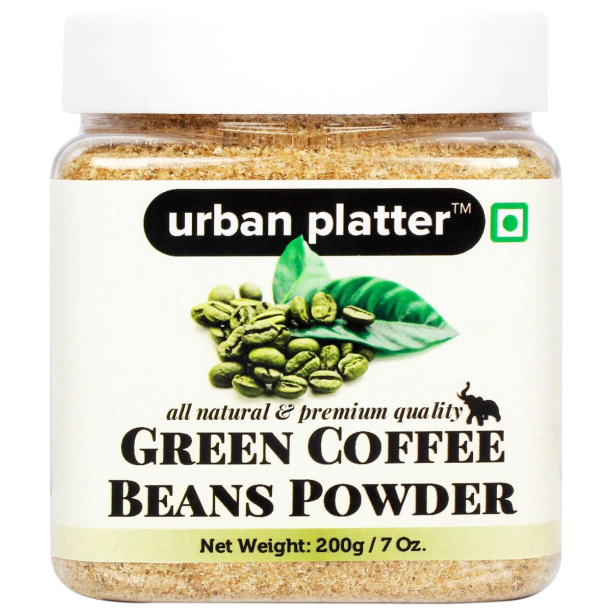 Green Coffee Powder Jar Coarsely Ground Granules 200g Jar