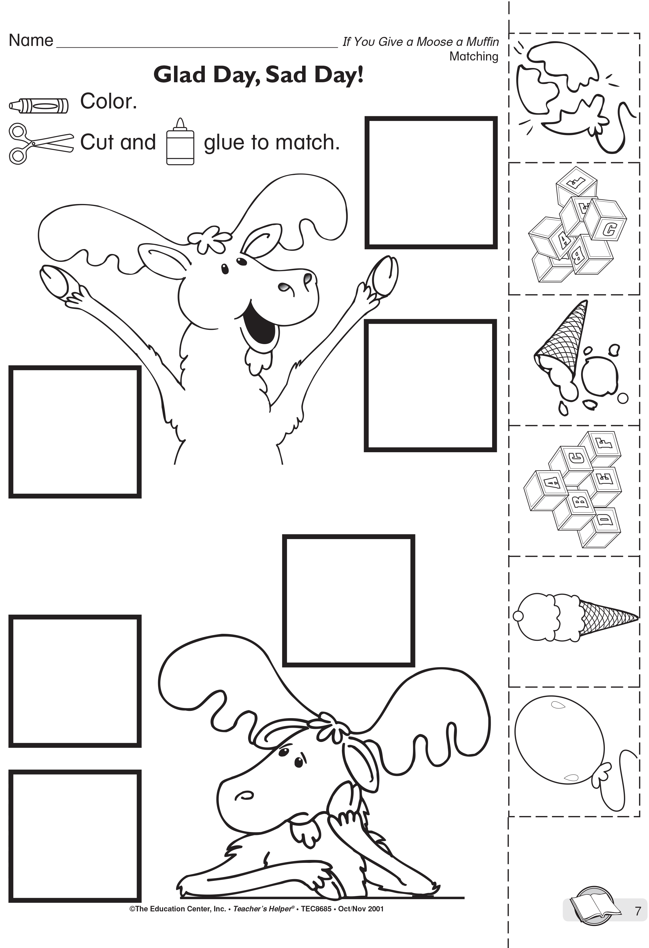 If You Give A Moose A Muffin Coloring Page | Classroom activities ...