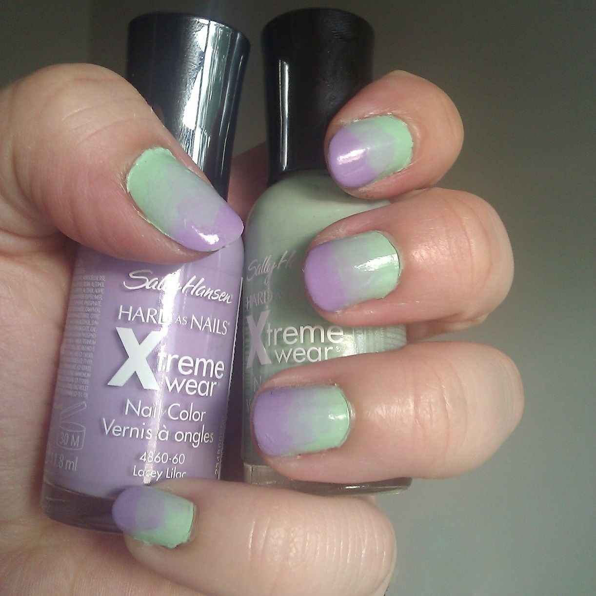 Mint Lilac Ombre Nails! Tricky and a lot of time and nail paint ...
