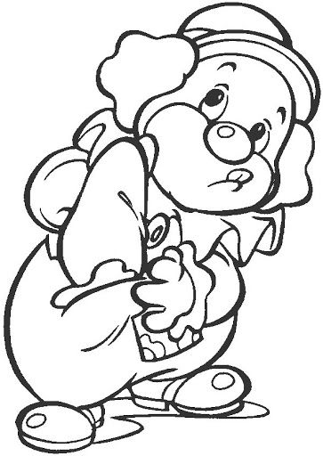 Clown - free coloring pages | Coloring Pages | PAYASETES SIMPATICOS ...