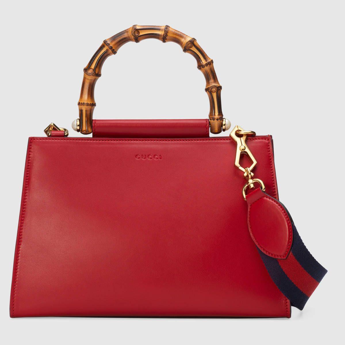 ba3e9ec60f Gucci Nymphaea leather top handle bag   Leather Goods   Gucci ...