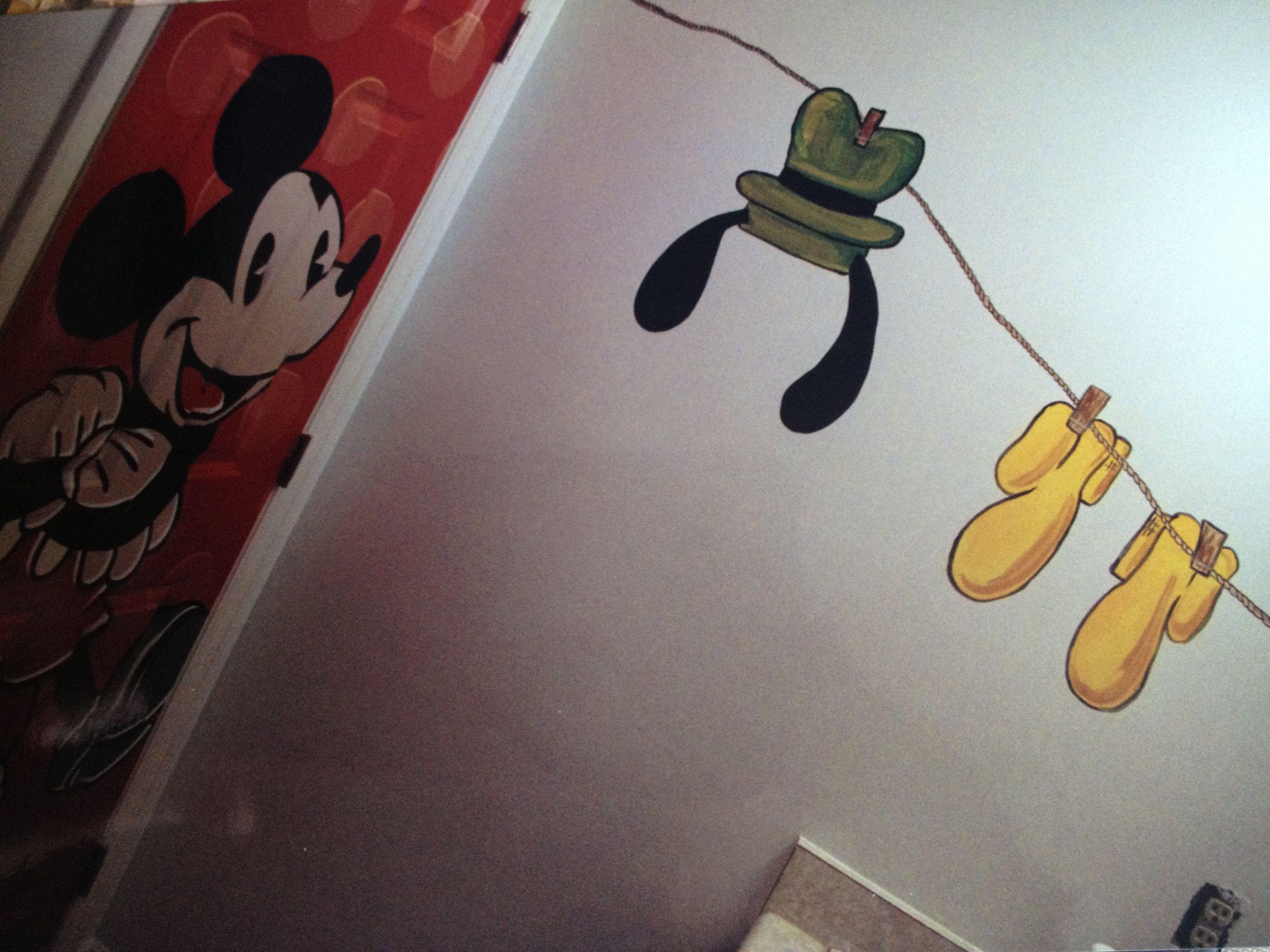 Mickey Mouse Bathroom Clothesline