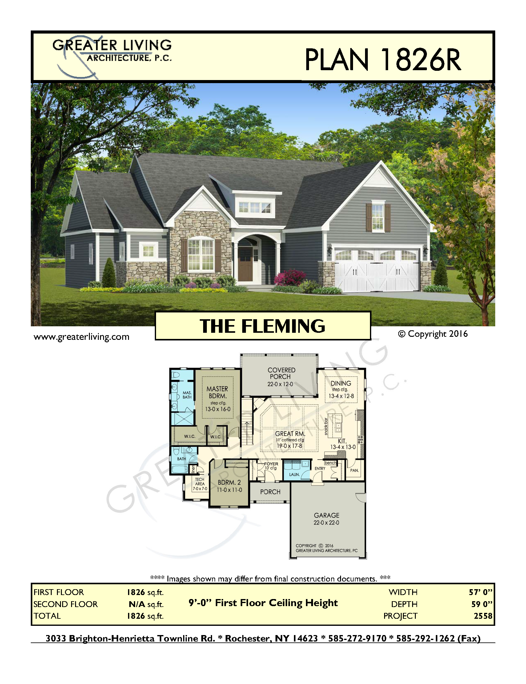 Plan 1826r the fleming house plans ranch house plan for Fleming homes floor plans