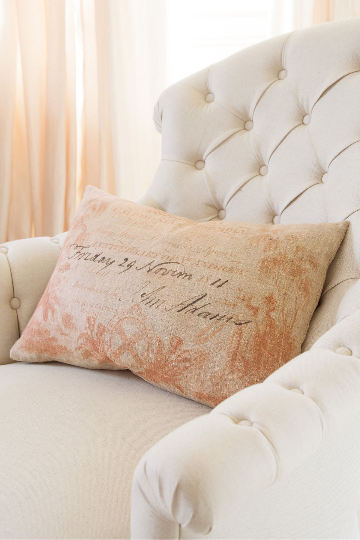 Coral Calling Card Pillow   A Sweet Accent For Your Bedroom Or Guest Room.