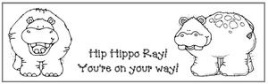 """End of the year activities, writing prompts, ideas & crafts: FREE: """"Hip Hippo Ray! You're on your way.  5 bookmarks on a page in color as well as black and white.  Students write their name at the top."""