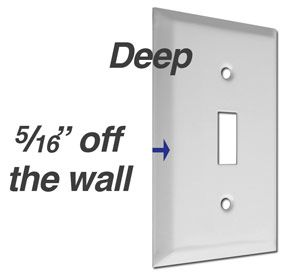 Deep Switch Plate Cover Thick Outlet Wall Plates Plates On Wall Switch Plate Covers Switch Plates