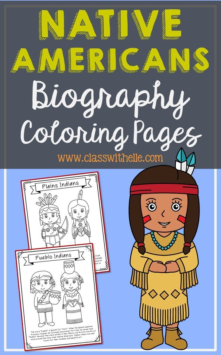 10 American Indian Tribes Coloring Pages Craft Posters, Native American