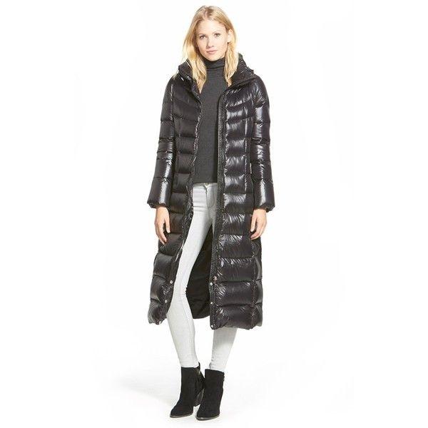 Calvin klein black long down coat