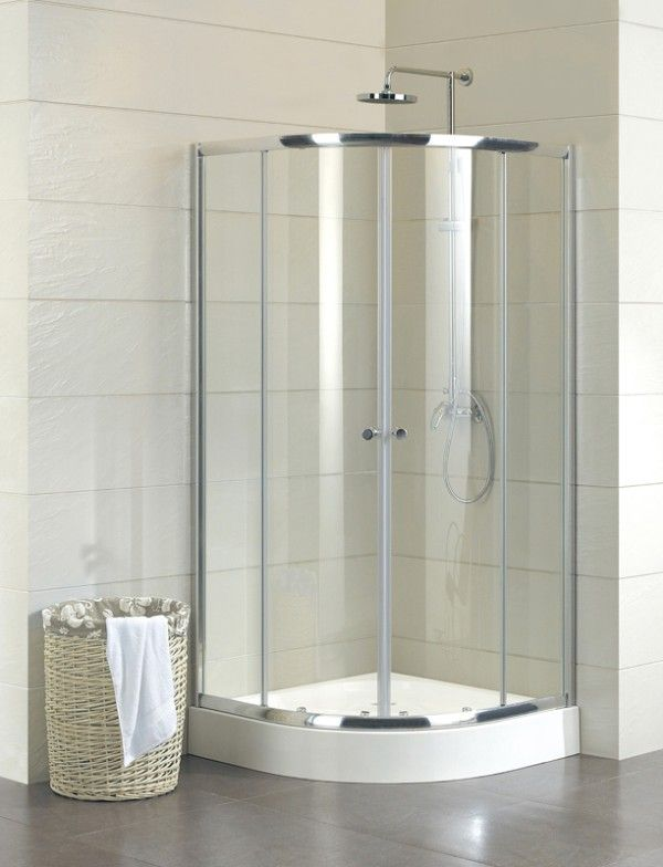 Quadrant Shower Enclosure 5mm Toughened Clear Glass Chrome