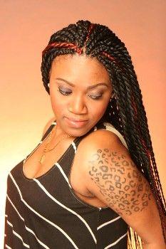 Pleasing 1000 Images About Jumbo Senegalese Twist On Pinterest Jumbo Hairstyles For Women Draintrainus