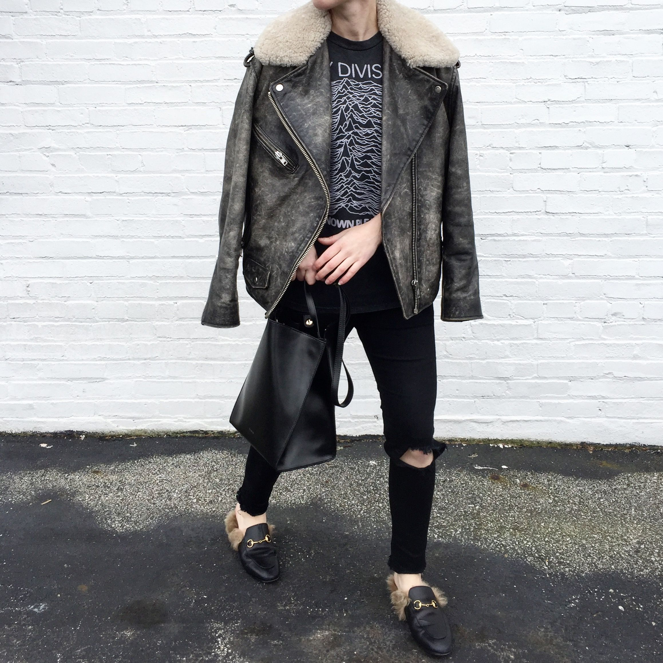 Ovrslo Wearing An Isabel Marant Coat Gucci Princetown Loafers And