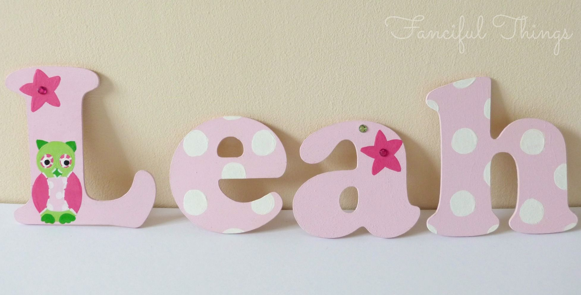 Owl Wooden Wall Letters
