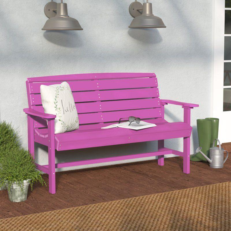 Sawyerville Manufactured Wood Garden Bench Outdoor Furniture