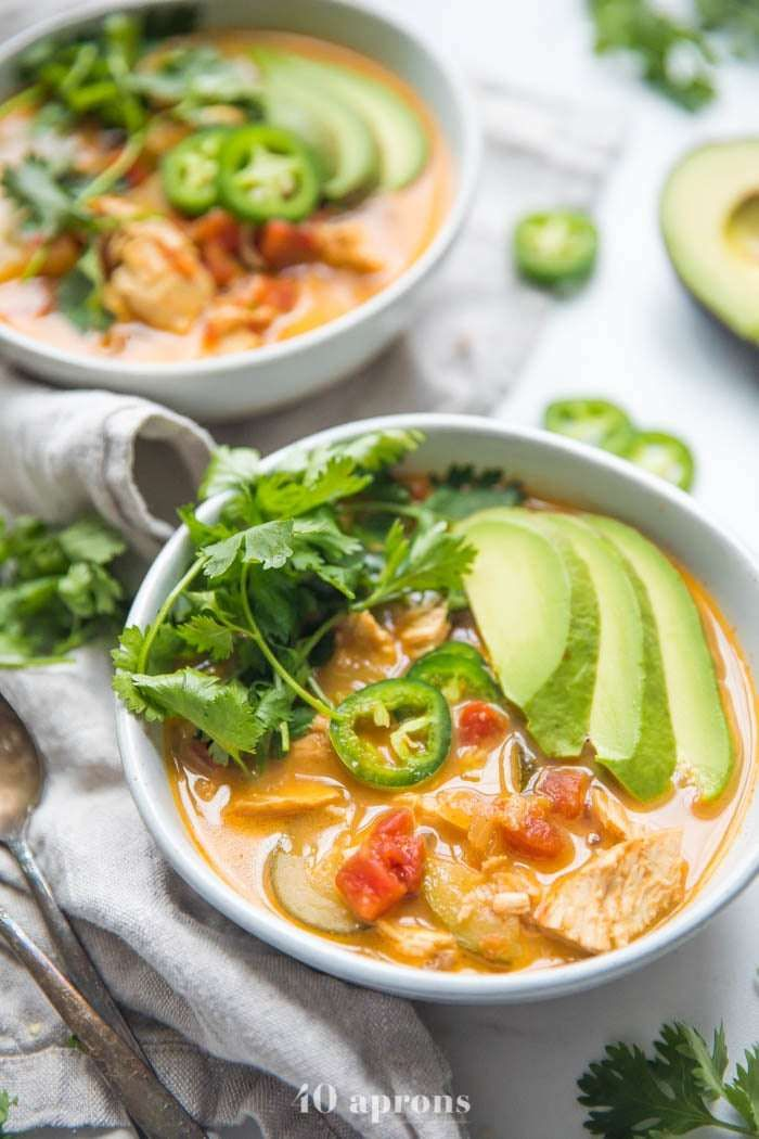 This Recipe For Tortilla Less Soup Also Calls For Chicken In It But You Can Sub In White Meat