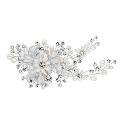 Alan Hannah Devoted Designer pearl and crystal leaf hand wrap hair clip- | Debenhams