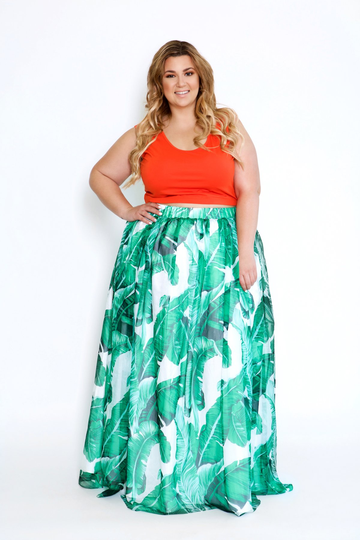 7d7d98fd0fc8 Makani Palm Leaf Maxi Skirt in 2019   Astra: Resort Collection 2018 ...