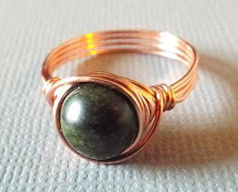 Russian Serpentine Ring Dark Green Ring Green by PepperandPomme