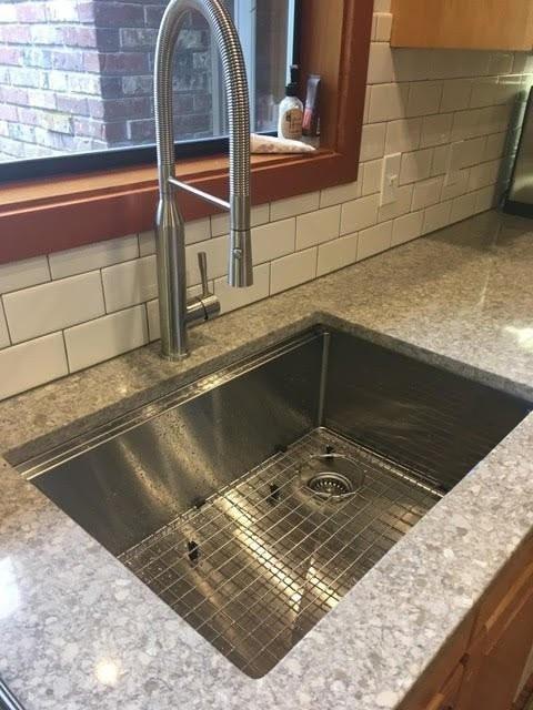 28 Ledge Sink 8 Depth Single Bowl Offset Drain Right 5ls28r 8 Offset Drain Kitchen Sink Sink Offset Kitchen Sink