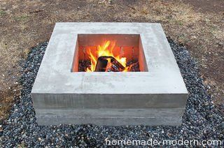 Photo of HomeMade Modern DIY Concrete Fire Pit