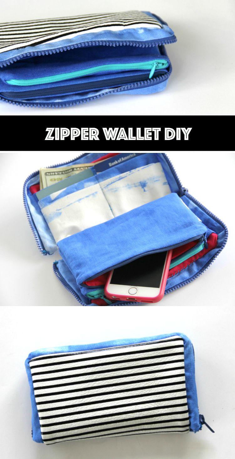 Zipper Wallet Diy The Sewing Rabbit Zipper Wallet Diy Diy Wallet Wallet Sewing Pattern