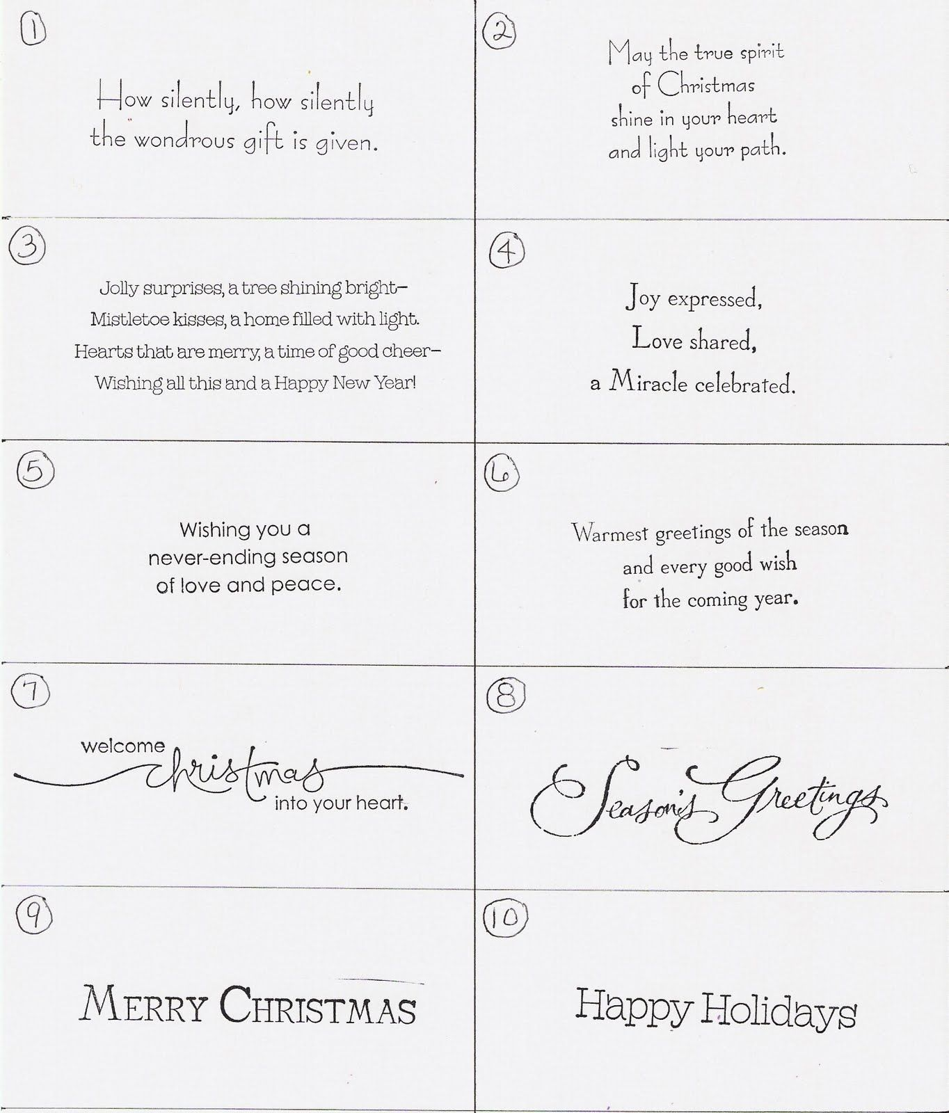 christmas card ideas - Christmas Card Wording