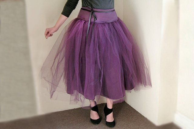 How to Make a Tulle Skirt for Adults | Tüllrock anleitung, Tüllrock ...