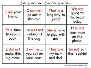 FREE Contraction Printables | This Reading Mama