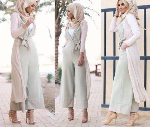 9c715d9b06515 Hijab Fashion 2016 2017  pastel green jumpsuit hijab style- Casual chic  hijab 2016 www.justtrendygir
