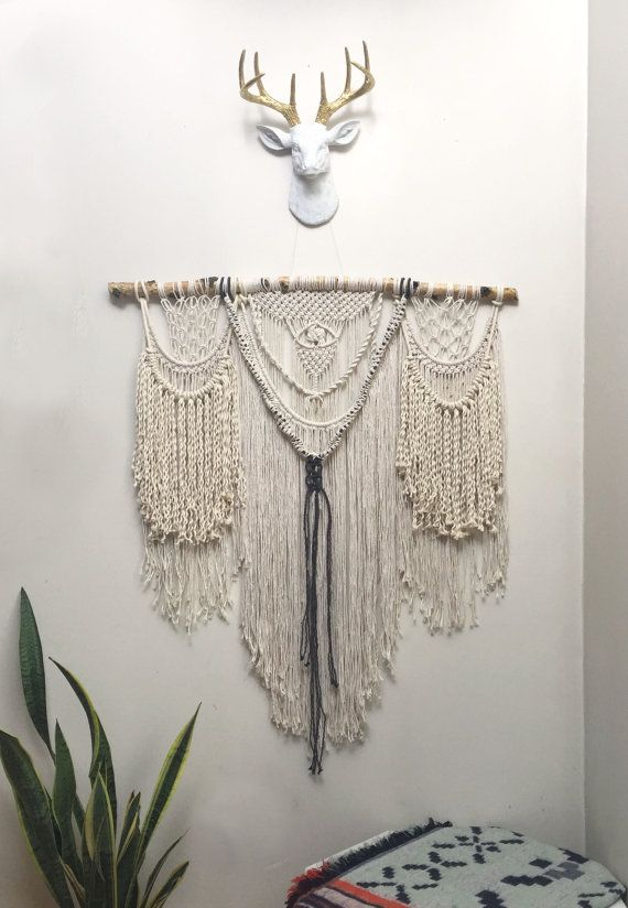 Extra Large macrame wall hanging curtain modern bohemian decor cool wall hanging - FREE SHIPPING IN U.S.