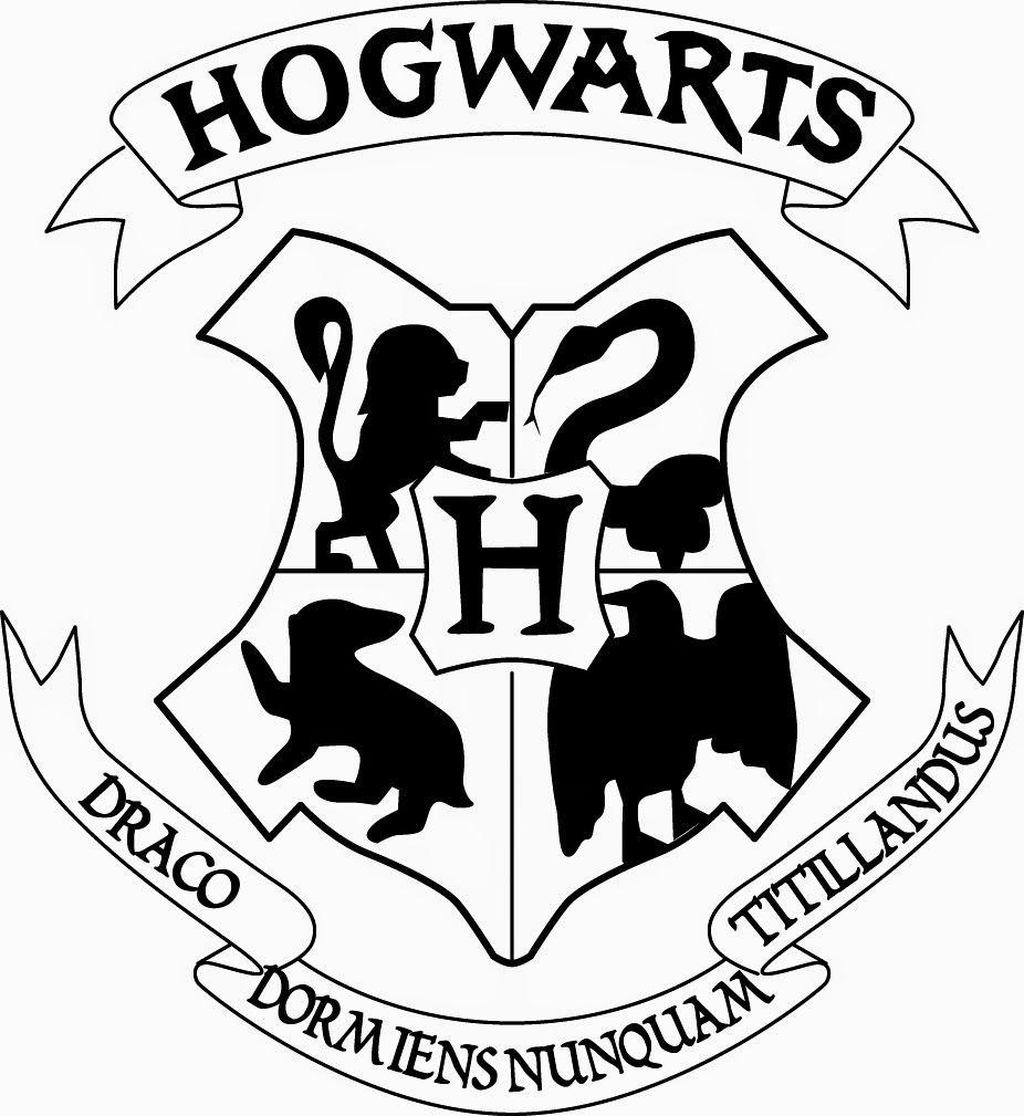 Simplified Hogwarts Logo (With images) Hogwarts