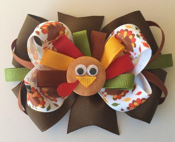 Photo of Thanksgiving Truthahn Haarschleife, Truthahn Haarschleife