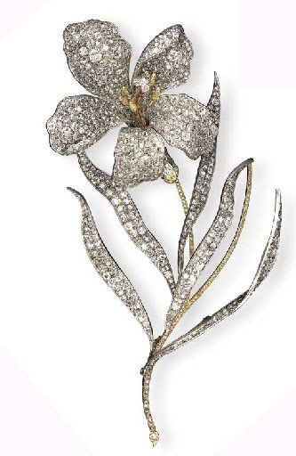 1c882a0842bb9 A SPECTACULAR ANTIQUE DIAMOND FLOWER BROOCH | Brooches | Jewelry ...