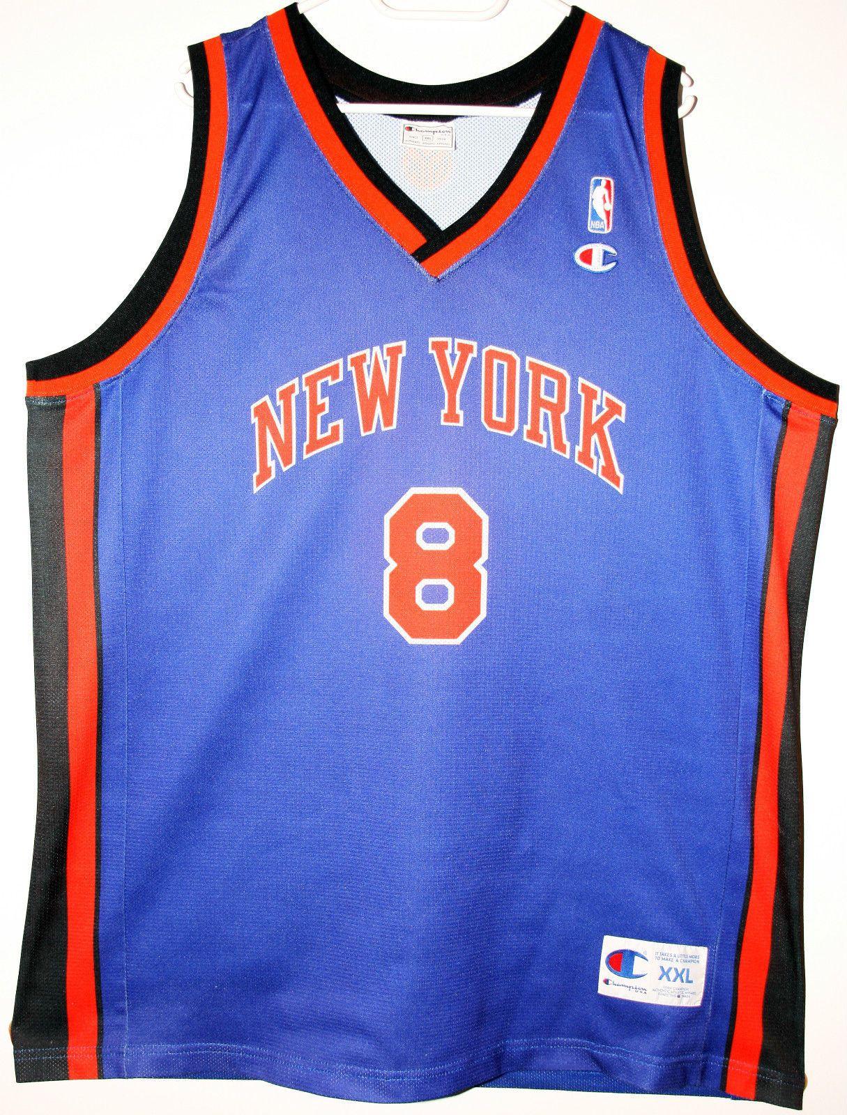 Champion NBA Basketball New York Knicks #8 Latrell Sprewell Trikot/Jersey Size 52 - Größe XXL - 49,90€ #nba #basketball #trikot #jersey #ebay #sport #fitness #fanartikel #merchandise #usa #america #fashion #mode #collectable #memorabilia #allbigeverything