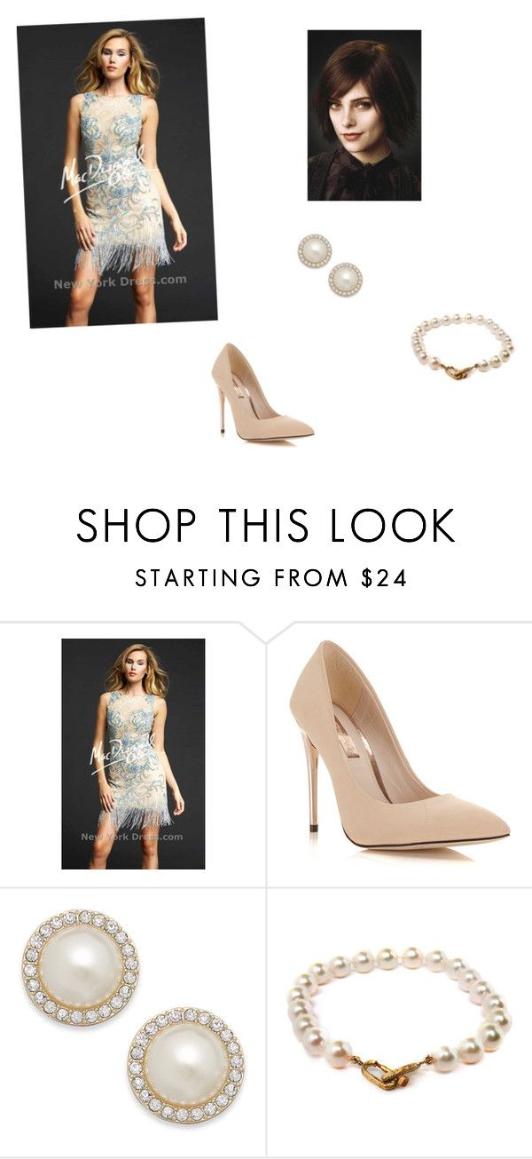 """""""Alice Wedding"""" by jennamae54 ❤ liked on Polyvore featuring Mac Duggal, Cullen, Miss Selfridge, Charter Club and Pearls Before Swine"""
