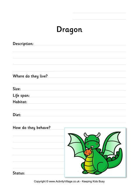 Dragon Worksheet Summer School Pinterest Worksheets Dragons